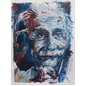 thumbnail Albert Einstein - Collage et pastel à l'huile